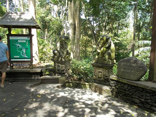 Sacred Monkey Forest Sanctuary: An area shortly inside one of the entrances to the Forest