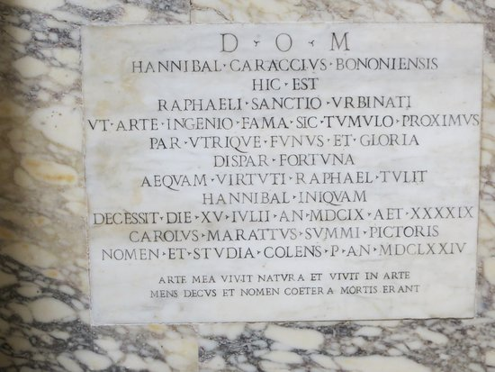 Pantheon (Rome): The renowned Artist, Raphael, is buried here...