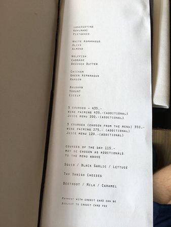 Restaurant Radio: Menu