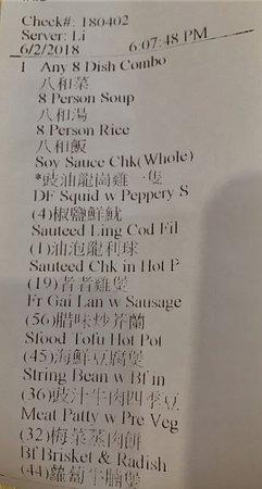 Van Dragon Chinese Restaurant: 8 dish combo order