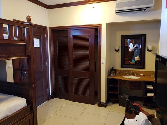 Beaches Turks & Caicos Resort Villages & Spa: Italian Village Kid's Room Closet and Sink