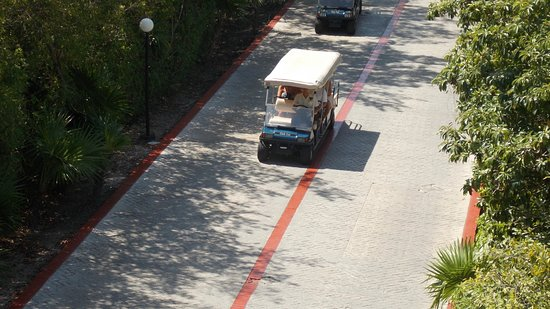 Bahia Principe Grand Coba: Trolly's we roam around in going to different parts of resort