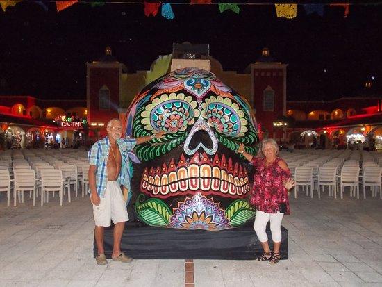 Bahia Principe Grand Coba: Hubby and I at the Hycienda Fiesta nite