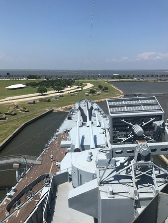 Battleship USS ALABAMA: Highest view point