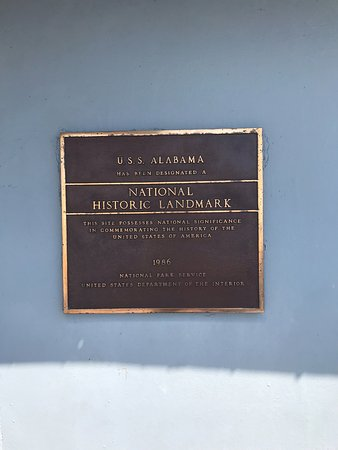 Battleship USS ALABAMA: Plaque