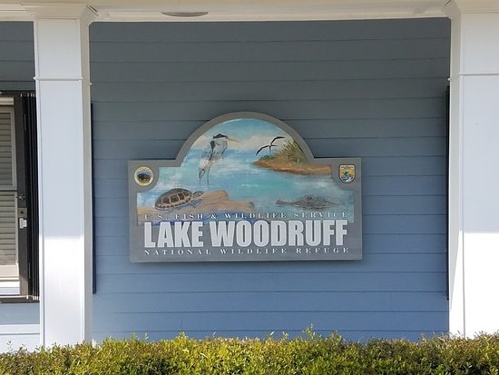 Lake Woodruff National Wildlife Refuge: Welcome Sign.