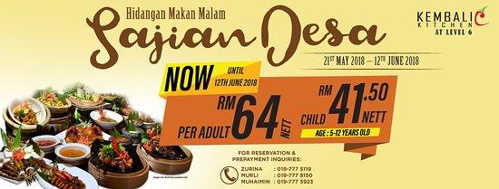 Best Western Petaling Jaya: Buka puasa with us at RM64nett. Normal price from RM88. Valid till 12th June 2018