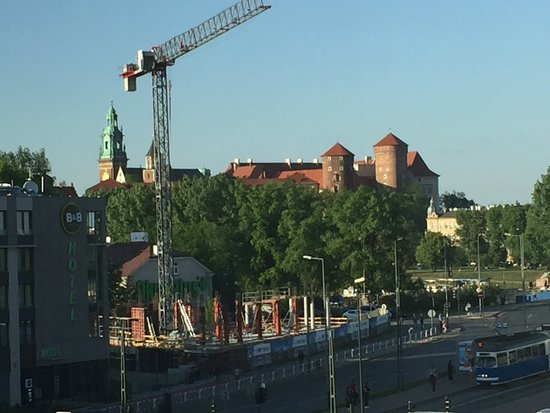 Park Inn by Radisson Krakow: View from our room, which will soon be sadly obstructed by the new building. :-(