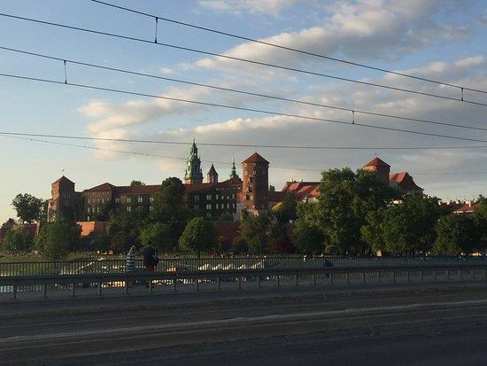 Park Inn by Radisson Krakow: Just around the corner, photo of castle from the bridge.