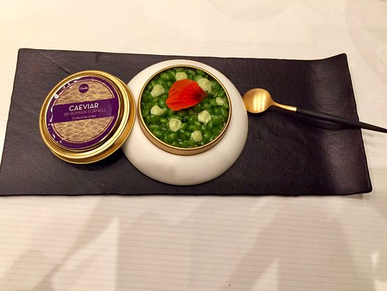 Caelis: Chef Fornell Caviar specialty...