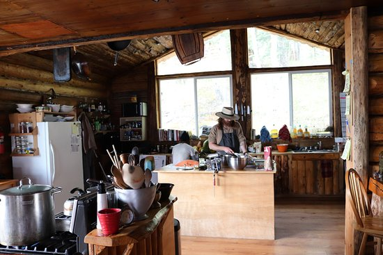 Port Alsworth, AK: Tobias Cooking