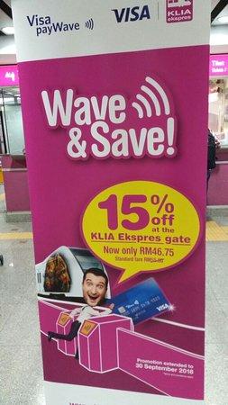 KLIA Ekspres: save your money, with the discount