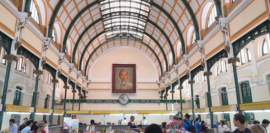 胡志明巿中央邮局照片