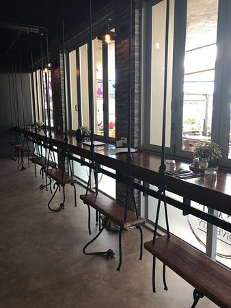 Cafe Diversity: Interior Seating and Green Wall