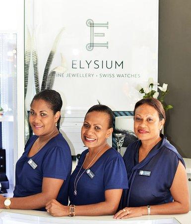 Elysium Vanuatu: Meet our friendly staffs, (left to right) Frieda, Denise and Lynda.