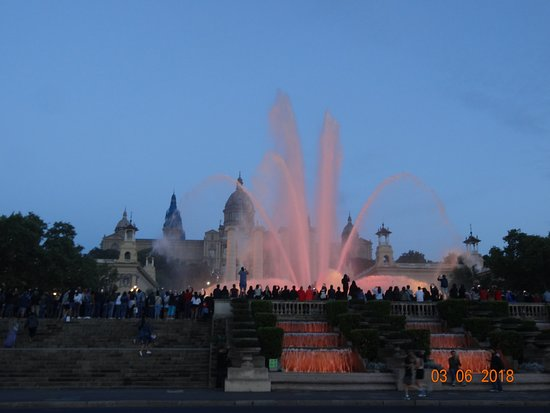 The Magic Fountain: Highest point