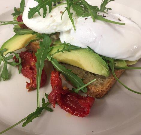 Formartine's: Avo, eggs, Sun blush toms, rocket, sourdough