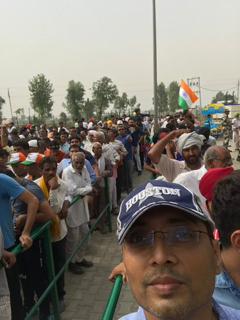 Wagah Border: Queue to enter the stadium