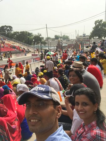 Wagah Border: Inside the stadium