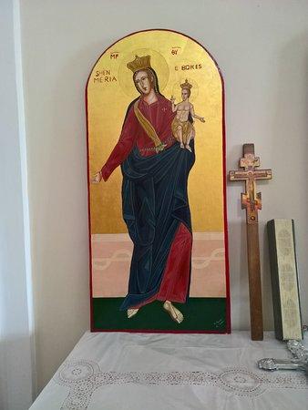 Castroregio, Italia:  Chiesa di San Rocco - icona bizantina - Santa Maria con bambino
