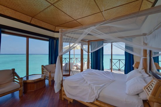 Thulhaagiri Island: The Overwater Bungalows *Indoor view*