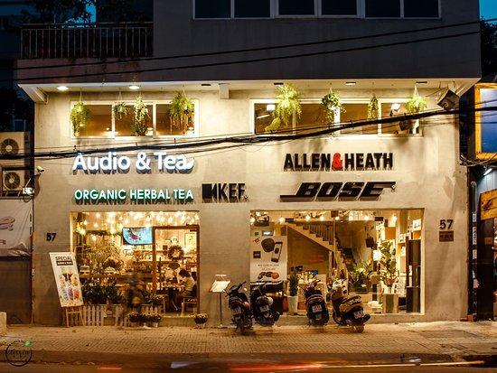 Audio & Tea: Front look is with Audio&Tea with Bose, KEF, Allen&Heath's Logos.
