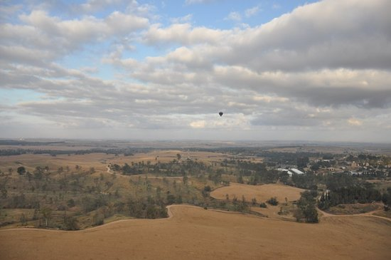 Over Israel - Hot Air Balloon: The view from the balloon
