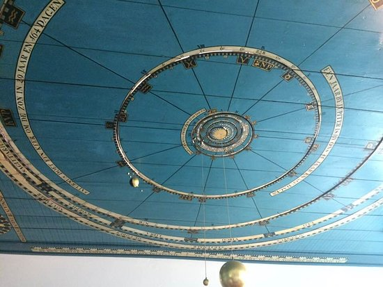 Franeker, Holandia: the Planetarium room - the ceiling