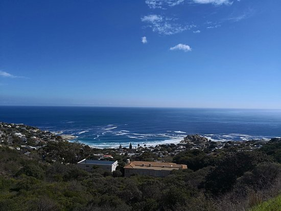 The Twelve Apostles Hotel and Spa: view down onto the hotel from scenic walk