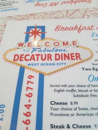 Decatur Diner: Simple menu