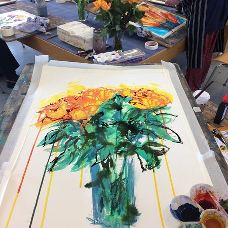 Crescent Arts Centre: My painting from the Saturday Love Painting class