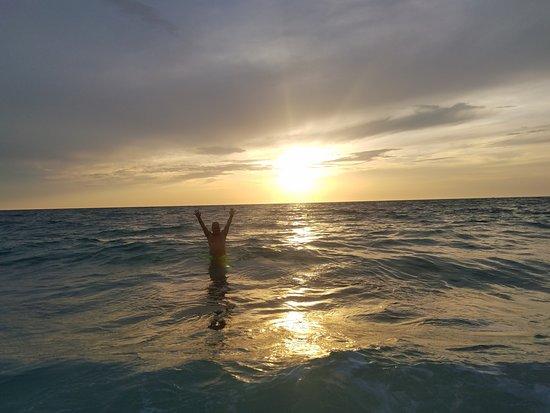 Siesta Beach: Sunset swim