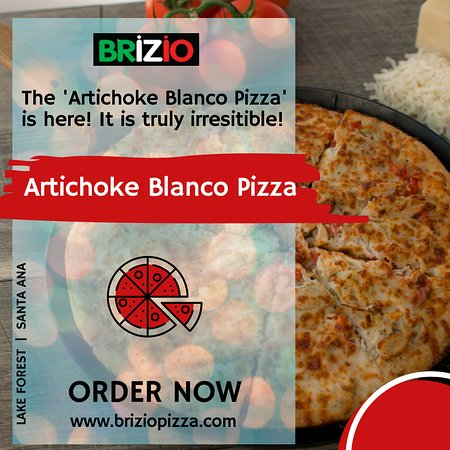 Brizio's Pizza: We create and serve Artichoke Blanco Pizza at brizio pizza! Come and enjoy at Briziopizza. Visit