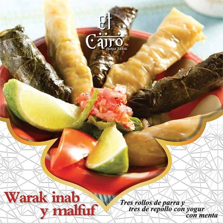 El Cairo - Cocina Arabe: Warak inab y malfuf