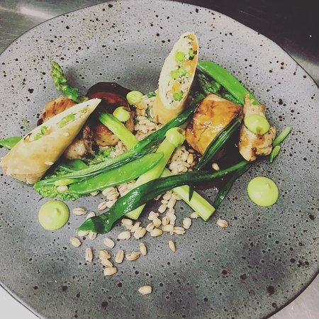 Lovage : Chicken spring dish.