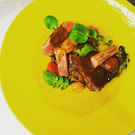 Lovage : Lamb with tomato textures.