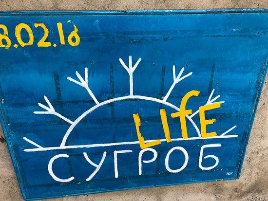 Omsk Oblast, Russland: Вывеска галереи
