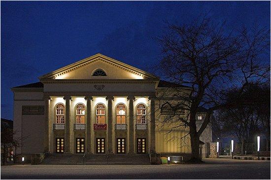 Nordhausen, Germany: Theater bei Nacht