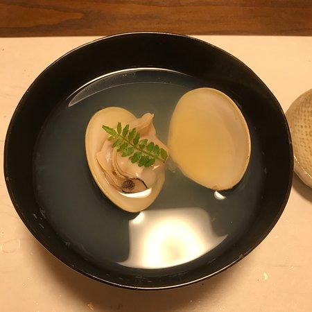 Ajidokoro Takeya: コース料理の9品目(吸い物)