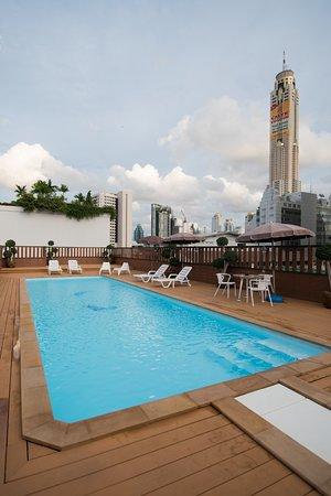 Pool at roof top of True Siam Rangnam Hotel