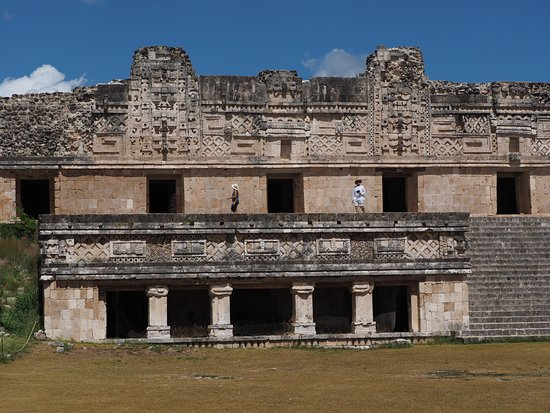 "Zona Arqueologica Uxmal: North Building of the ""Nunnery"" was the tallest as it represented the heavens"