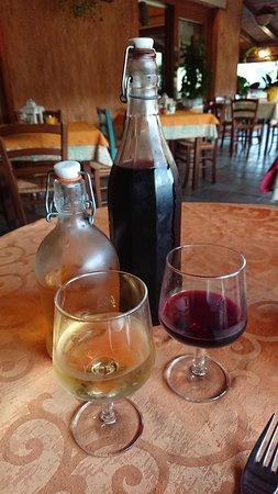 Agriturismo Muru Idda: Homemade wine as so moreish!