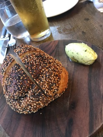 The Coach Makers Arms: Stone Baked Bread with Herbed Butter