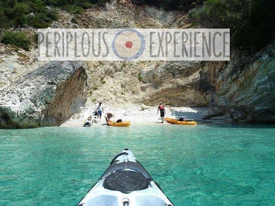 Mikros Gialos, Greece: sea kayak trip- periplous experience.