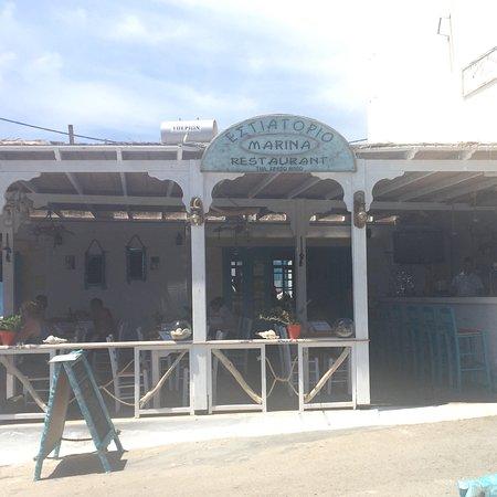 Marina's Restaurant: Vista dall'esterno