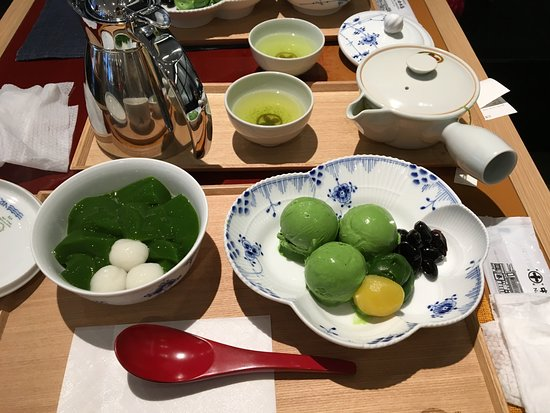 Nakamura Tokichi Honten Ginza: 我的最愛 - 抹茶凍及抹茶冰淇淋組合