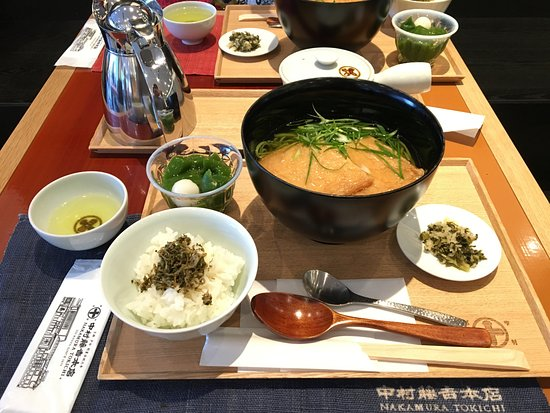Nakamura Tokichi Honten Ginza: lunch set 也好吃 - 抹茶蕎麥麵, 不過豆皮偏甜