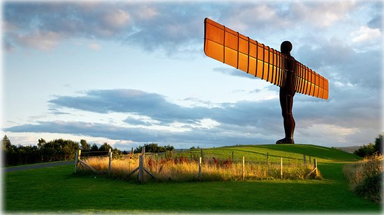 The Angel of the North in Gateshead, Tyne and Wear