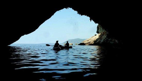 sea kayak trip with Periplous experience at Papanikolis Cave!!!