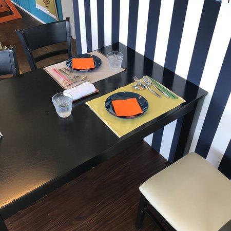 Trattoria Green : 我が家が案内されたテーブル席